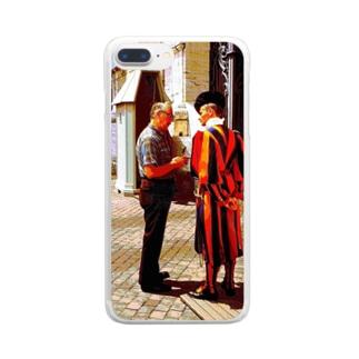 CG絵画:バチカンのスイス人衛兵 CG art: Vatican Guard Clear smartphone cases
