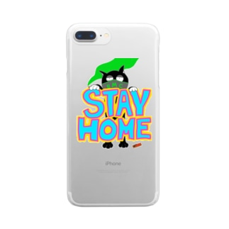 STAY HOME CAT Clear smartphone cases
