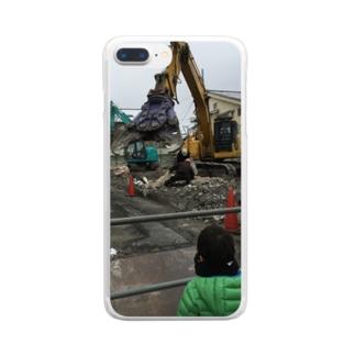 カッター 重機 Clear smartphone cases