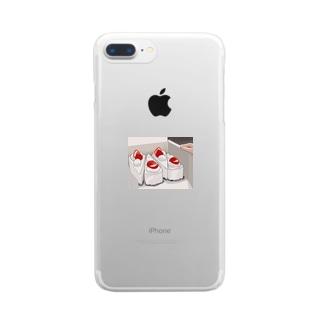 ケーキの箱 Clear smartphone cases