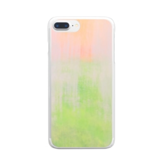 Withdraw a curtain Clear smartphone cases