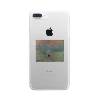 印象・日の出(モネ) Clear smartphone cases