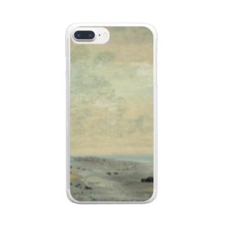 teki shopの日の出(モネ) Clear smartphone cases