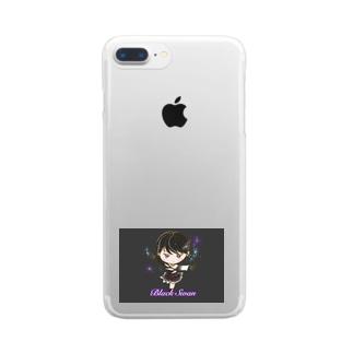 ブラックスワン(フィギュア) Clear smartphone cases
