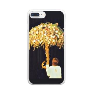 花の傘 Clear smartphone cases