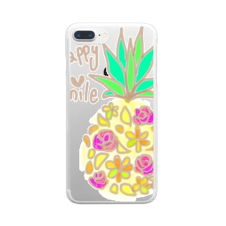 mixパインシリーズ1 Clear smartphone cases