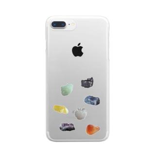 鉱物いろいろ Clear smartphone cases