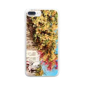 yutoyouのMadagascar Flowers & Bike Clear smartphone cases