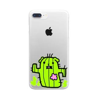 モルモット屋さん 時々違うのサボ モルモット Clear smartphone cases
