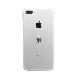 な〜猫 だいチュき チュかまえたニャ Clear smartphone cases