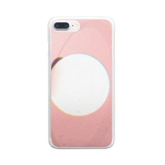 ピンクと丸 Clear smartphone cases