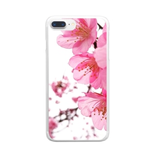 かわづさくら Clear smartphone cases