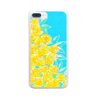 晴れた日のモッコウバラ Clear smartphone cases