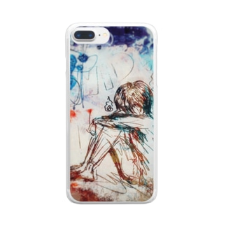Fxxk Covid ぱちゃ☆ガール Clear smartphone cases