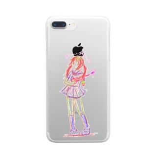 かいかんちゃん Clear smartphone cases