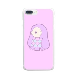 ゆめかわアマビエ Clear smartphone cases