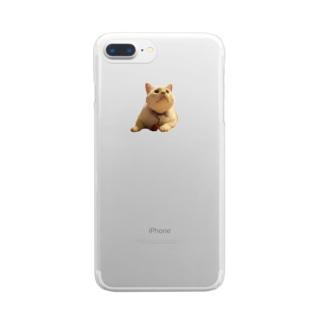 上向いてる改 Clear smartphone cases