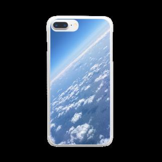 すかいぶるーのそら Clear smartphone cases