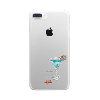 kai160421の夏カクテル Clear smartphone cases