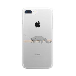 プリズモリイの箱のだらりんこ ビントロング Clear smartphone cases