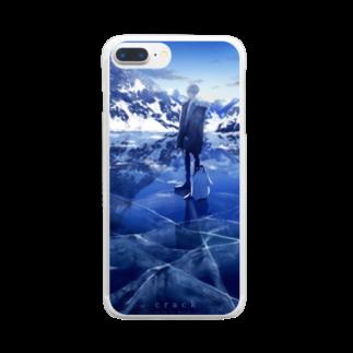 世のcrack Clear smartphone cases