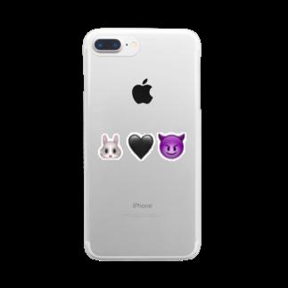 🐰🖤😈の🐰🖤😈 Clear smartphone cases
