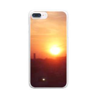 sax905の夕焼けグッズ Clear smartphone cases