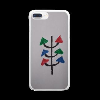 まるあるちの真面目の木 Clear smartphone cases