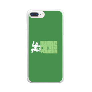 hoge-machaのNECO(Run as fast as you can) Clear smartphone cases