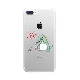 火事を起こさない怪獣 Clear smartphone cases