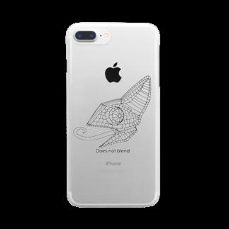 蟻さん@おえかきのカメレオン Clear smartphone cases