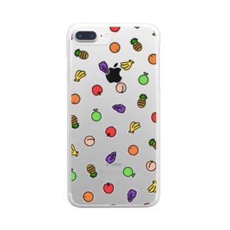 もりもりフルーツ Clear Smartphone Case
