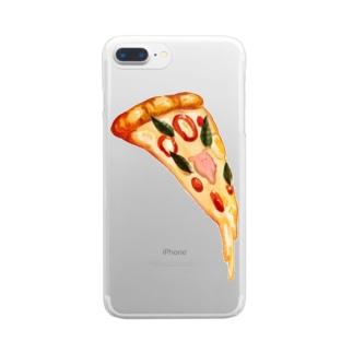 まいにちめんだこのお店のピッツァ Clear smartphone cases