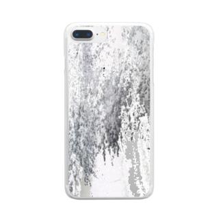 雪と桜と夜 Clear smartphone cases