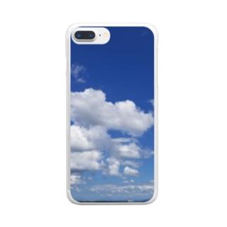 地平線の先へ Clear smartphone cases