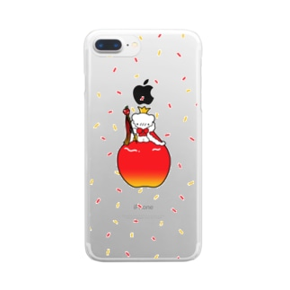 りんごの王様 Clear smartphone cases