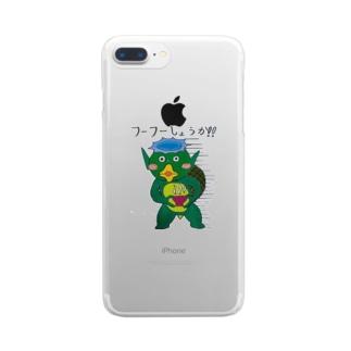 フーフーカッパ Clear smartphone cases