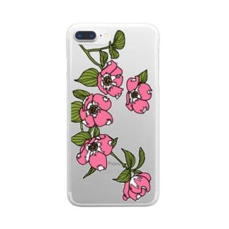 ハナミズキ Clear smartphone cases