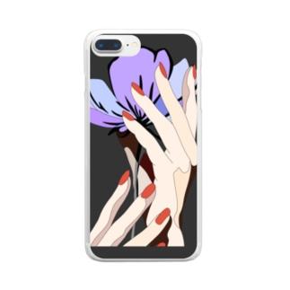 置かれた場所で咲きなさい Clear smartphone cases