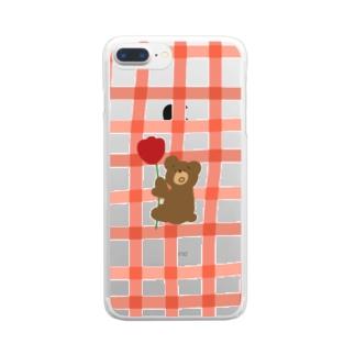 つかまりくまごろう Clear smartphone cases