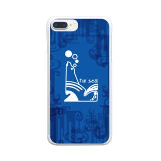 aniまる Fur sea / sp-case-c Clear smartphone cases