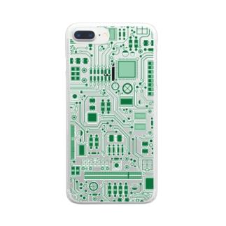 基盤柄 Clear smartphone cases