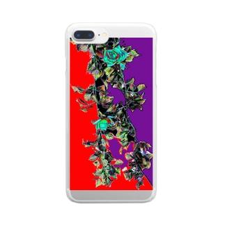 つるバラ Clear smartphone cases