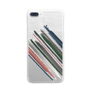 線分 Clear smartphone cases
