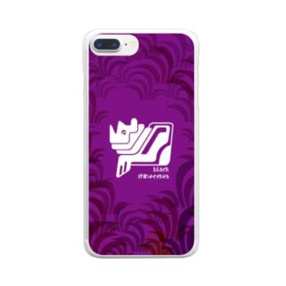 aniまる Black_rhinoceros / sp-case-c Clear smartphone cases