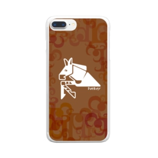 aniまるのaniまる Donkey / sp-case-c Clear smartphone cases