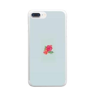 0521:愛 Clear smartphone cases
