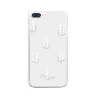 すずらん ロゴあり Clear smartphone cases