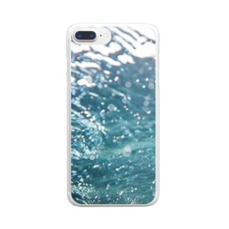 セブ島の海の中 Clear smartphone cases