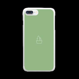 IiiiiiiiiiTのさぼてん Clear smartphone cases